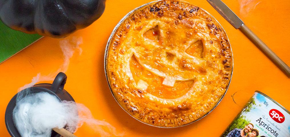 Halloween Apricot Pie
