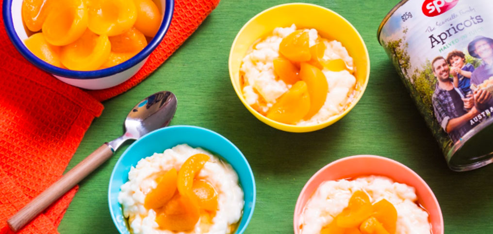 Coconut and Apricot Rice Pudding