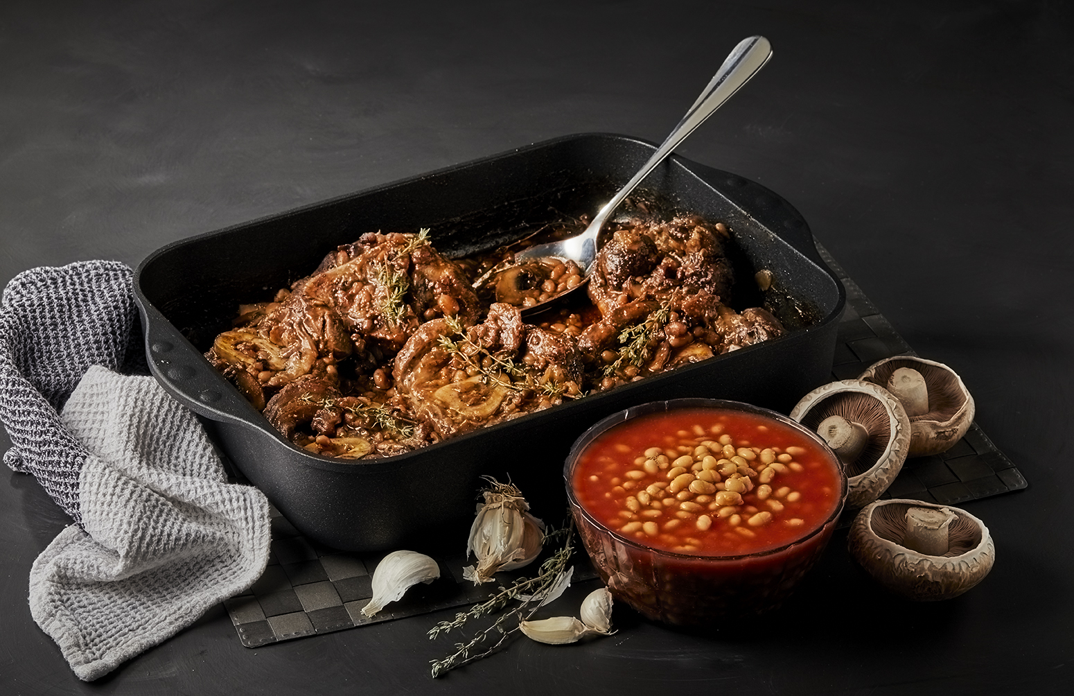 Braised Beef with Beans and Guinness