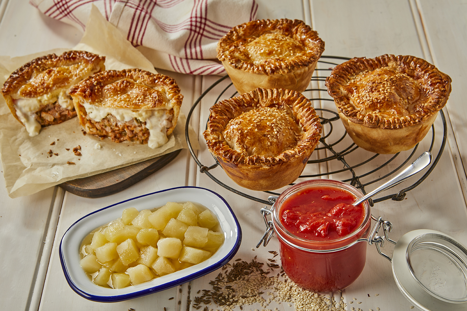 Apple and Pork Pies