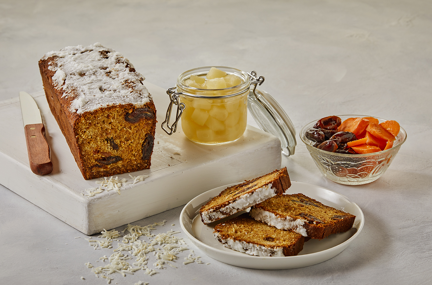 Apple Coconut Carrot Cake Loaf