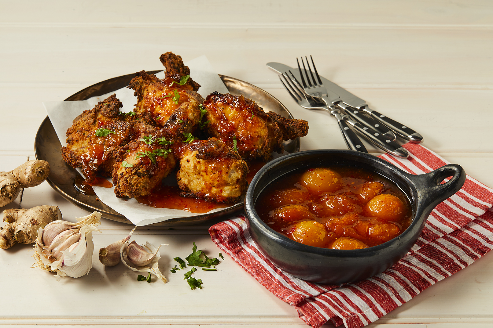 Fried Chicken with Spiced Apricot