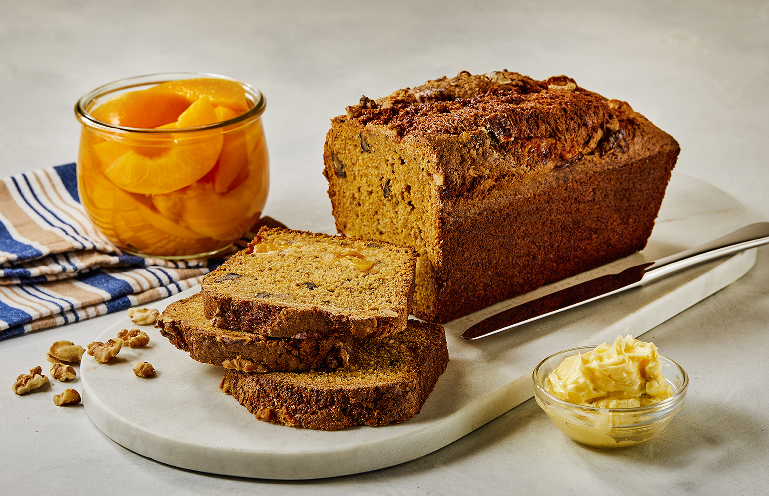 Pumpkin Peach Nut Loaf