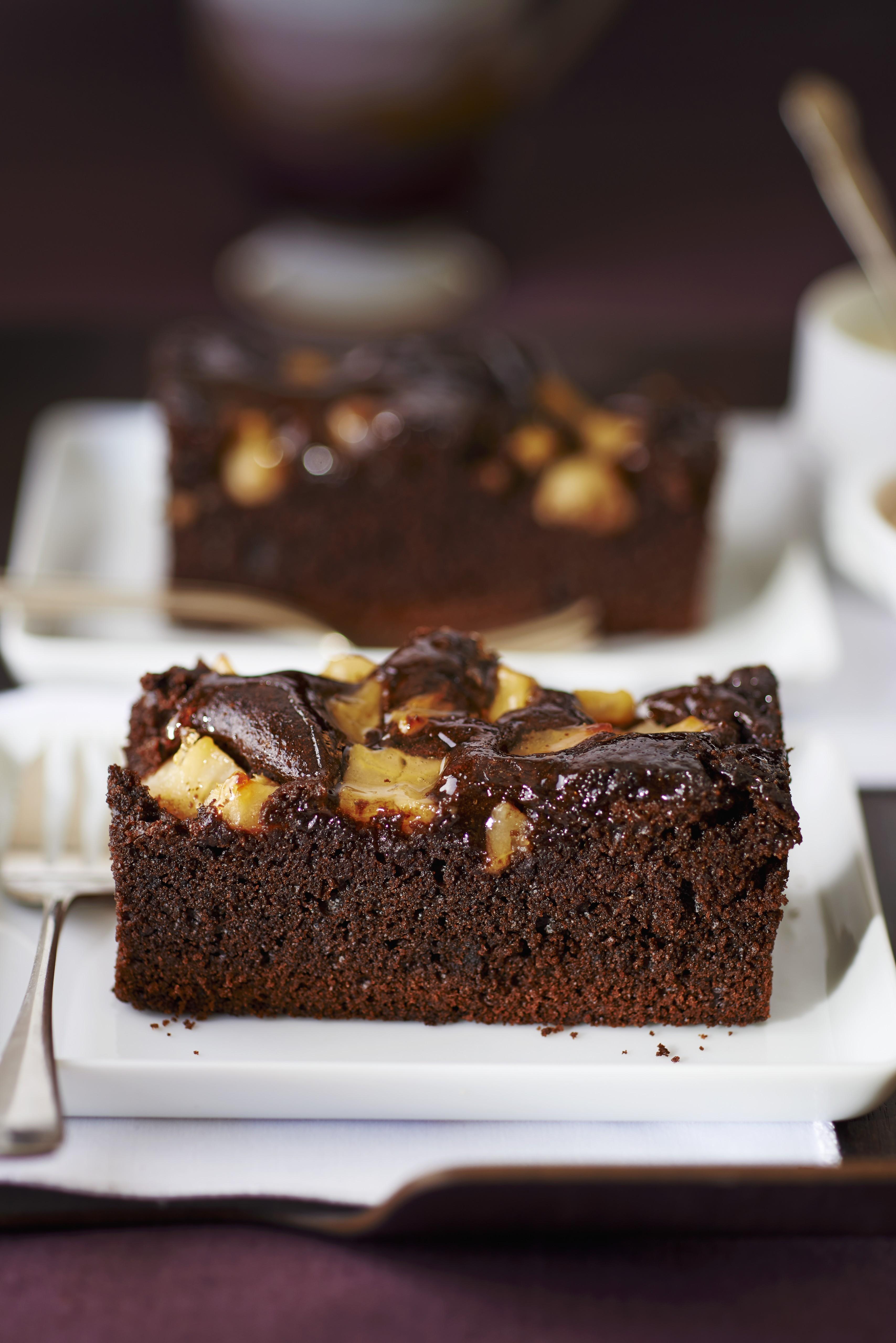 Moist Chocolate Sour Cream & Pear Cake