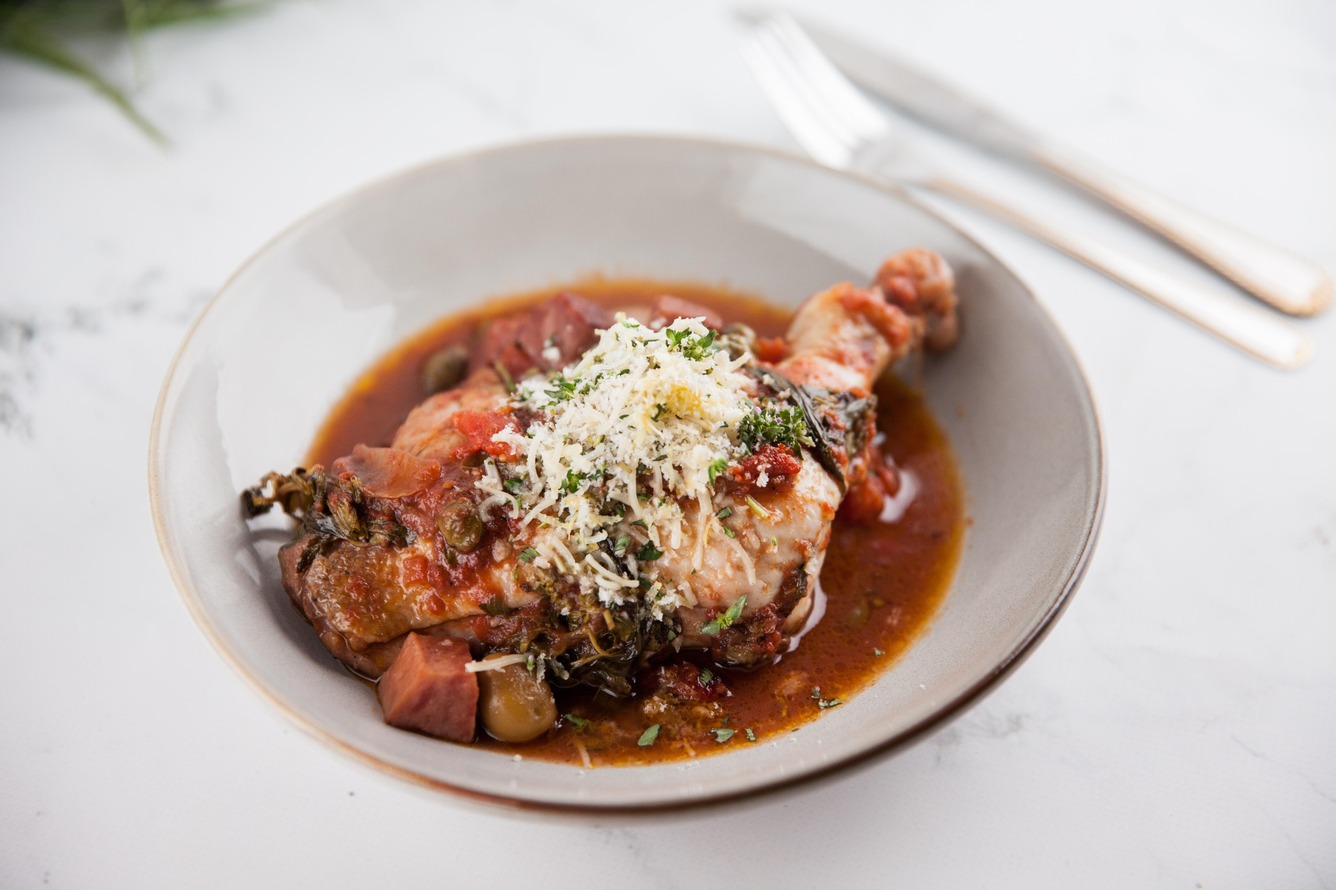 Sicilian Pot Roasted Chicken