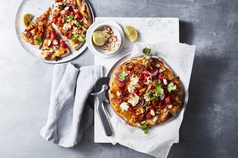Tandoori Jackfruit Pizzas