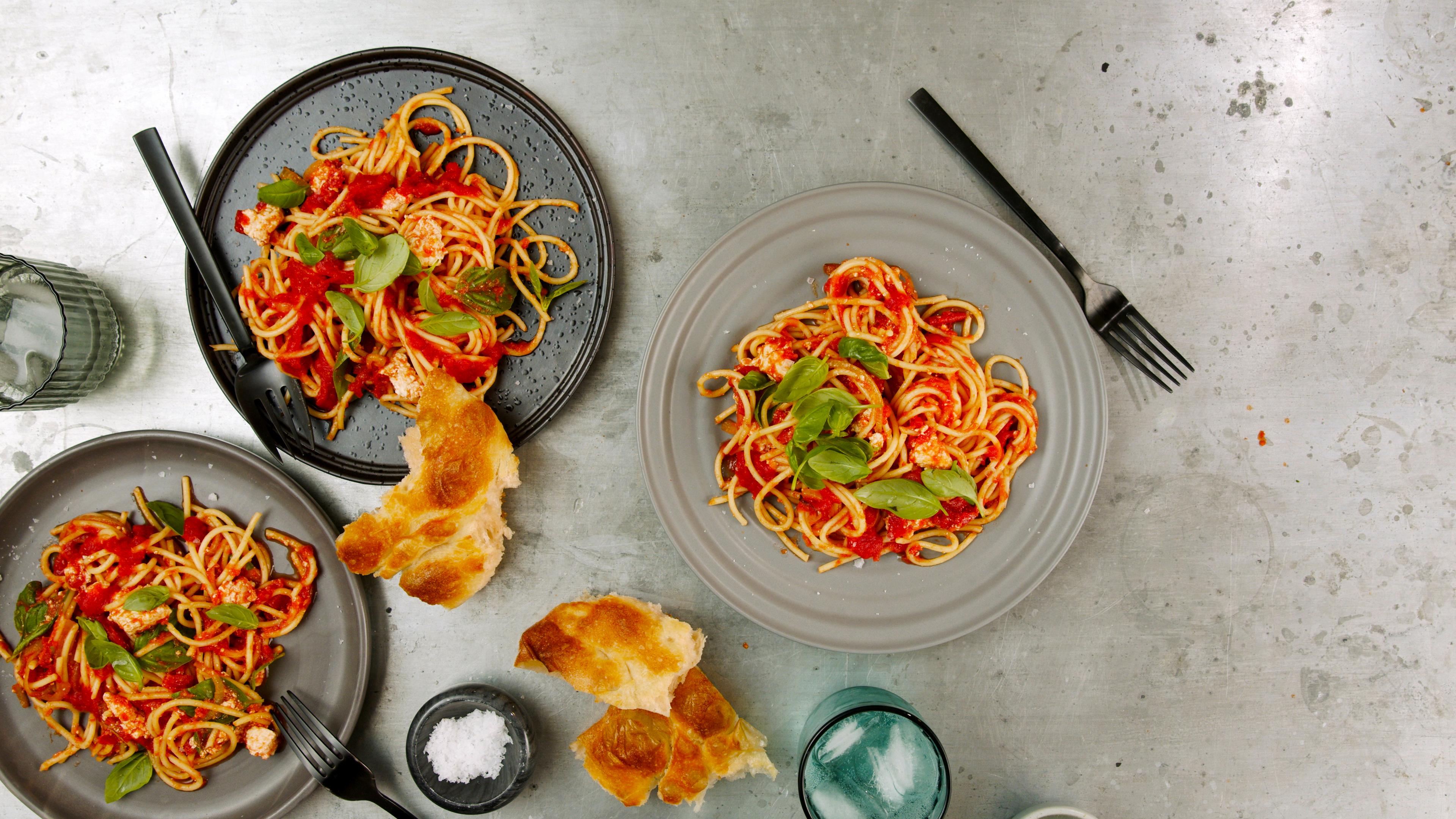 Spaghetti with Tomato & Ricotta