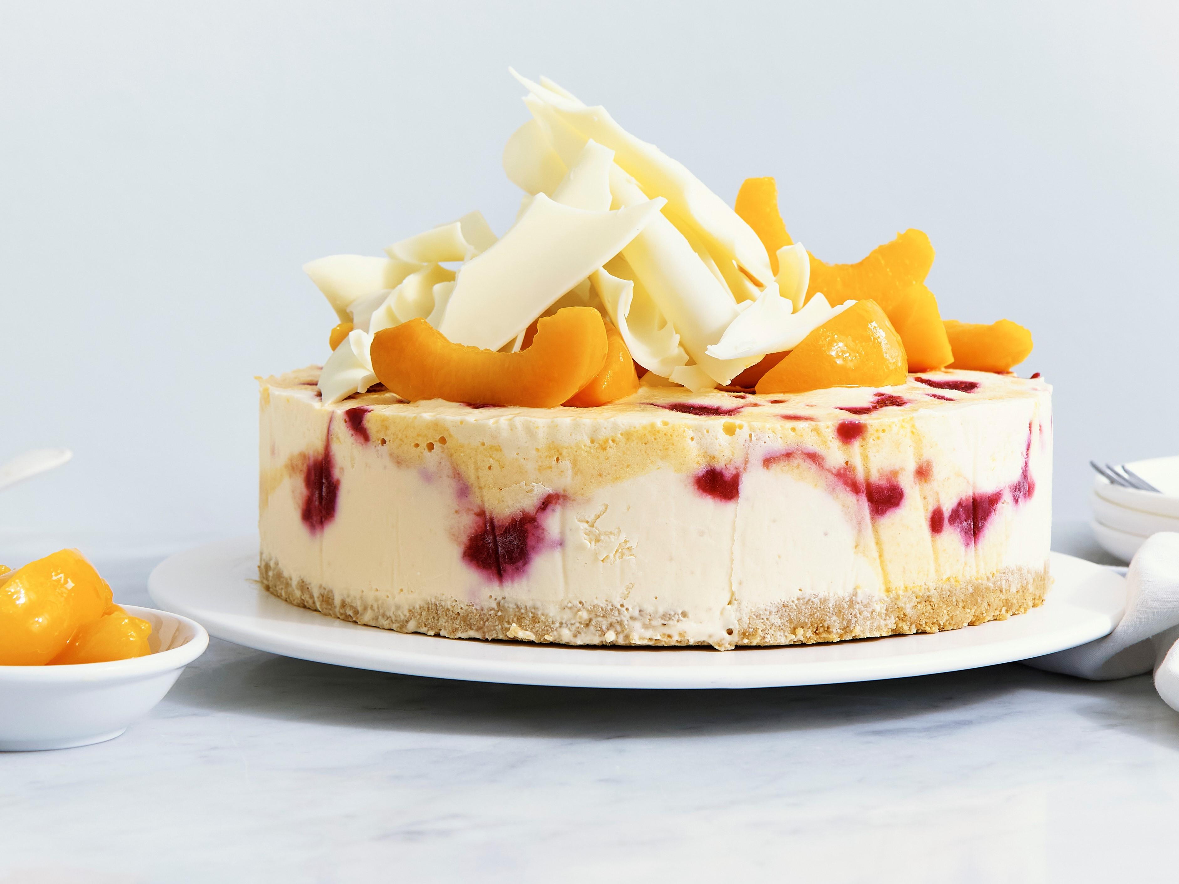 Peach Melba Ice Cream Cheesecake