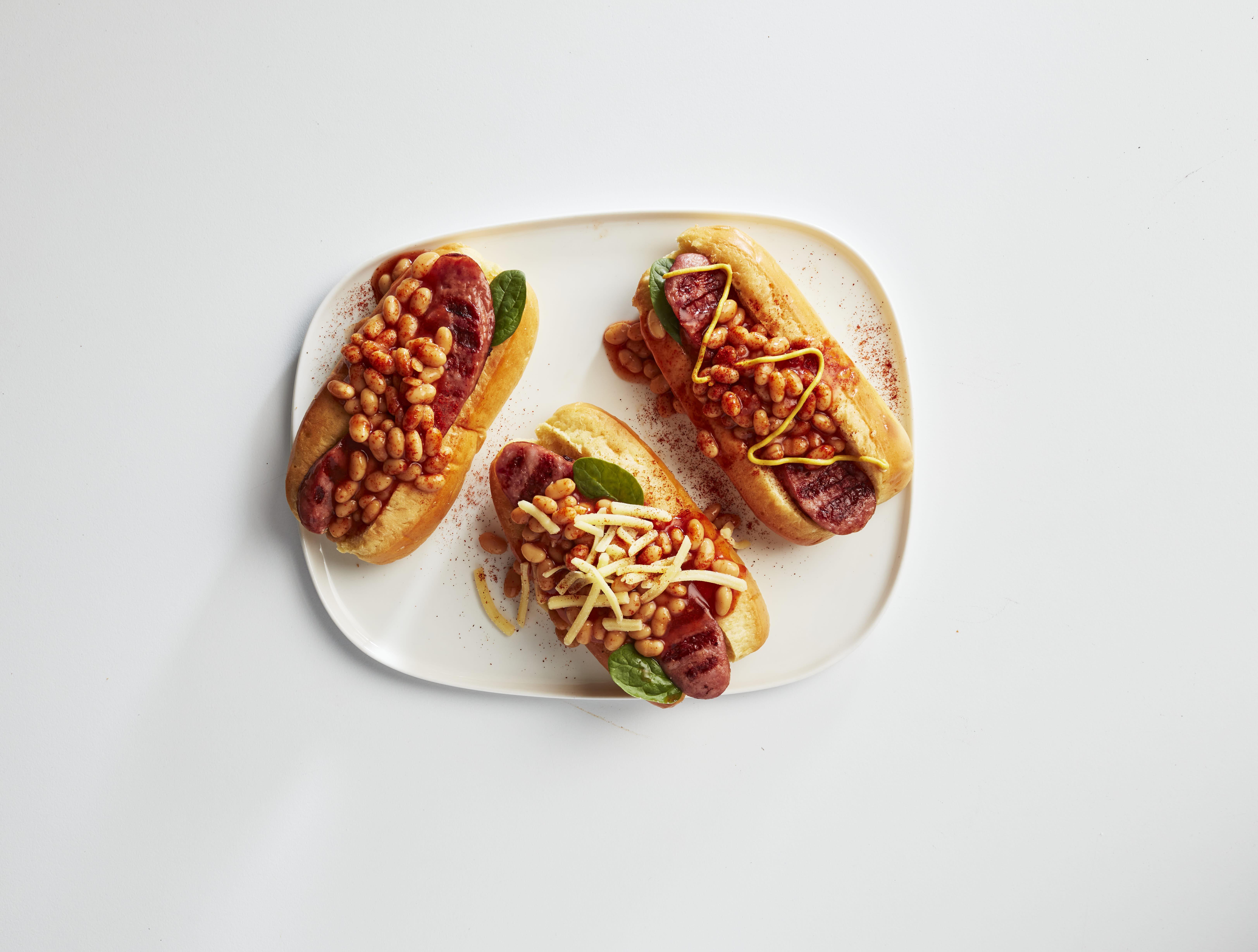 Loaded Beans & Kransky Hotdogs