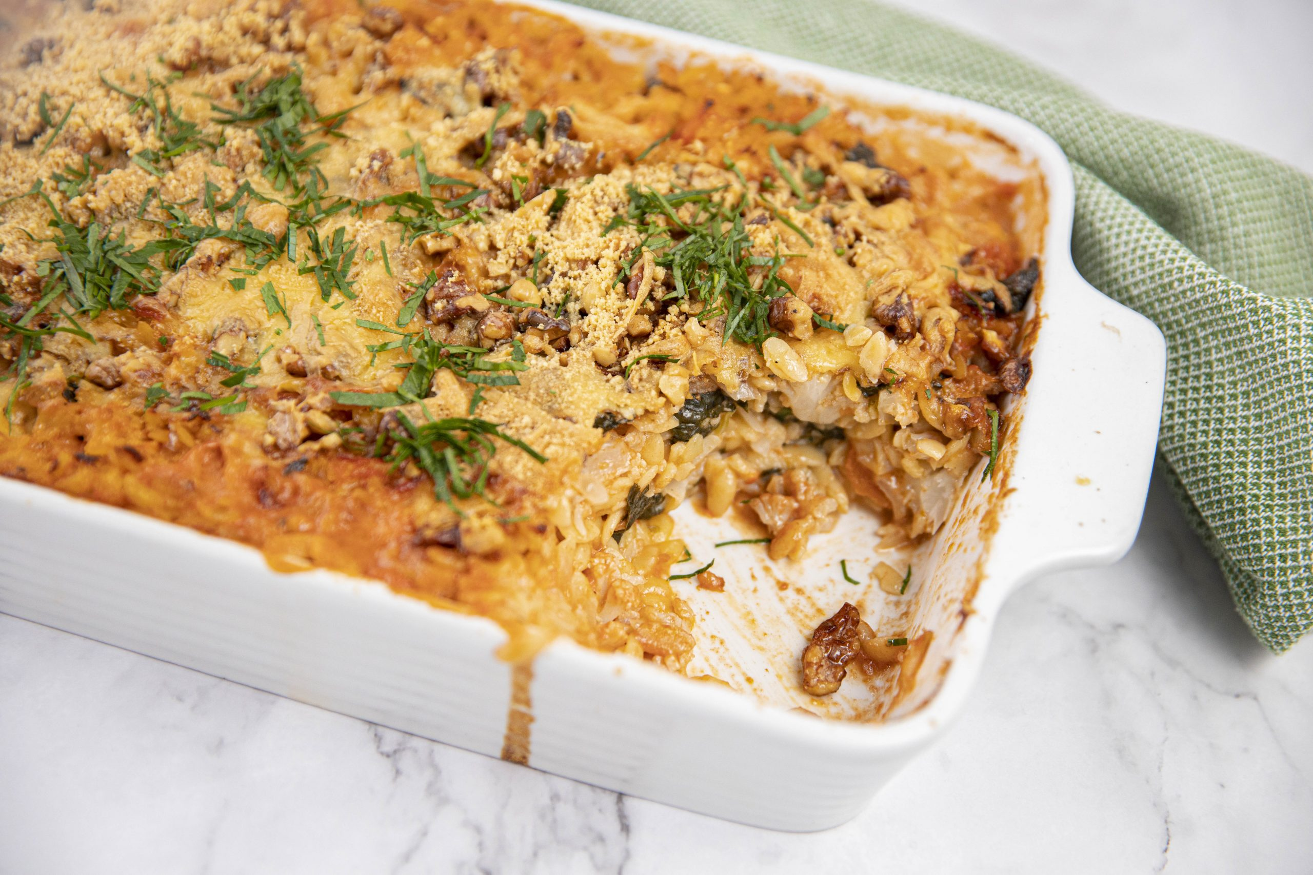 Cauliflower and Tomato Risoni Bake